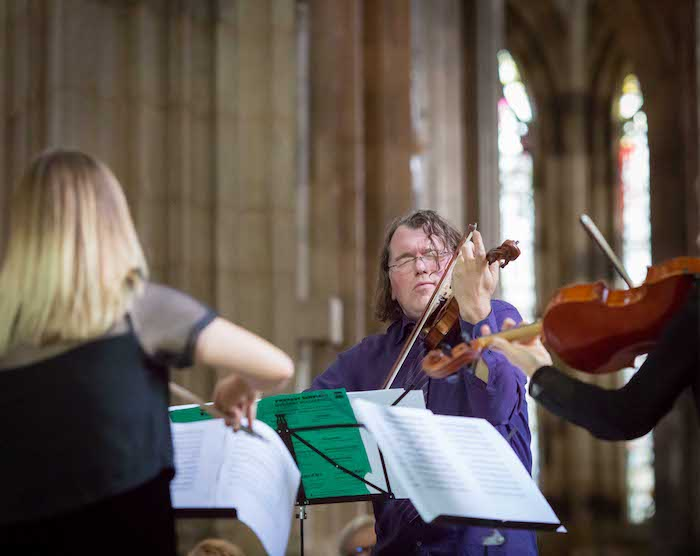 Concert à Rouen : la Maison illuminée en quintette à cordes